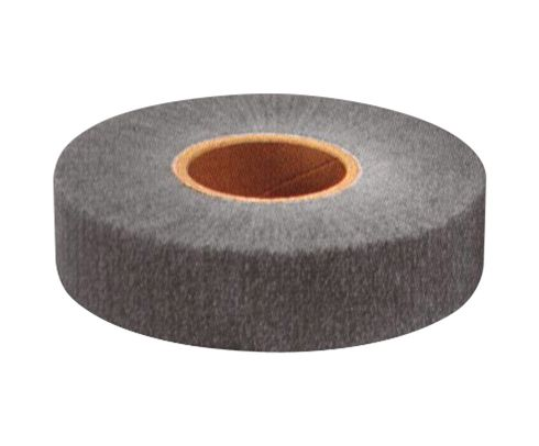 "3M™ 048011-14783 FF-ZR Gray 3"" x 1-3/8"" Fine Non-Woven Silicon Carbide Flap Wheel - 10 Wheels/Case"