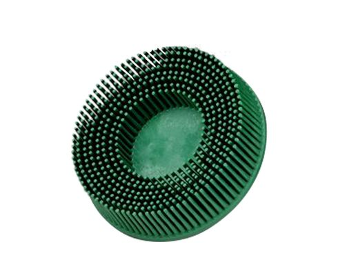 "3M� 048011-18734 Scotch-Brite� Roloc� RD-ZB Green 3"" X 5/8"" 50 Grit Tapered Grade Bristle Disc"
