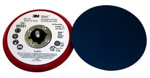 "3M� 051141-20351 Stikit Hard Low Profile Disc Pad - 5"" x 3/8"" x 5/16-24 External - 10 Pads/Case"