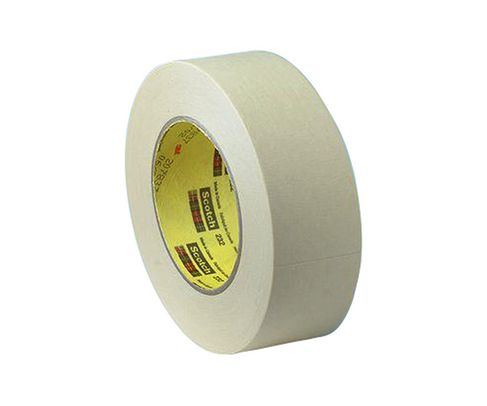 3M™ 021200-02851 Scotch® 232 Tan 6.3 Mil High Performance Masking Tape - 9 mm x 55 m Roll