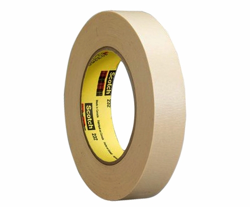 "3M™ 051111-97660 Scotch® 232 Tan 6.3 Mil High Performance Masking Tape - 3"" x 120 Yard Roll"
