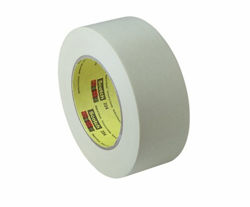 3M� 021200-02983 Scotch� 234 Tan 5.9 Mil General-Purpose Masking Tape - 36 mm x 55 m Roll