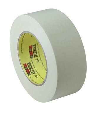 3M� 021200-02982 Scotch� 234 Tan 5.9 Mil General-Purpose Masking Tape - 24 mm x 55 m Roll