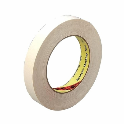 3M� 021200-02981 Scotch� 234 Tan 5.9 Mil General-Purpose Masking Tape - 18 mm x 55 m Roll