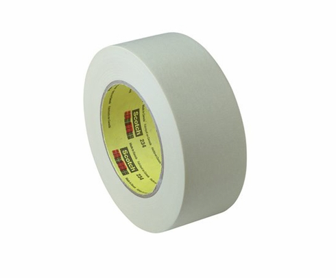 3M� 021200-02987 Scotch� 234 Tan 5.9 Mil General-Purpose Masking Tape - 96 mm x 55 m Roll