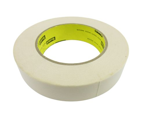 "3M� 021200-02876 Scotch� 250 Tan 6 Mil Flatback Masking Tape - 1"" x 60 Yard Roll"