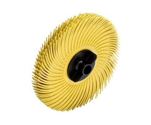 "3M� 048011-30126 Scotch-Brite� RB-ZB Yellow 3"" X 3/8"" 80 Grit Radial Bristle Disc - 80 Discs/Pack"