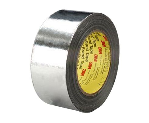 "3M� 021200-49527 Scotch� 363 Silver 7.3 Mil High Temperature Aluminum Foil/Glass Cloth Tape - 1/2"" x 36 Yard Roll"