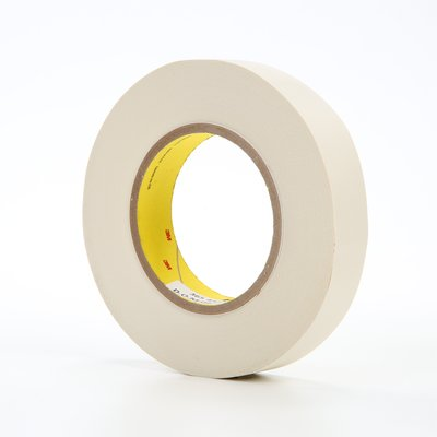 "3M� 021200-03020 Scotch� 365 White 8.3 Mil Thermosetable Glass Cloth Tape - 1"" x 60 Yard Roll"