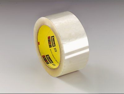 3M� 021200-72368 Scotch� 373 Clear 2.5 Mil Box Sealing Tape - 48 mm x 50 m Roll