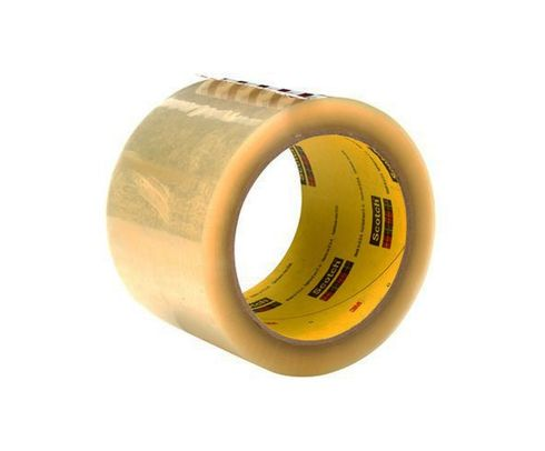 3M� 021200-69605 Scotch� 373 Clear 2.5 Mil Box Sealing Tape - 72 mm x 50 m Roll