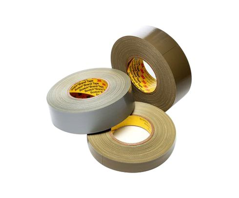 "3M™ 021200-06968 Scotch® 390 Olive 11.7 Mil Polyethylene Coated Cloth Tape - 1"" x 60 Yard Roll"