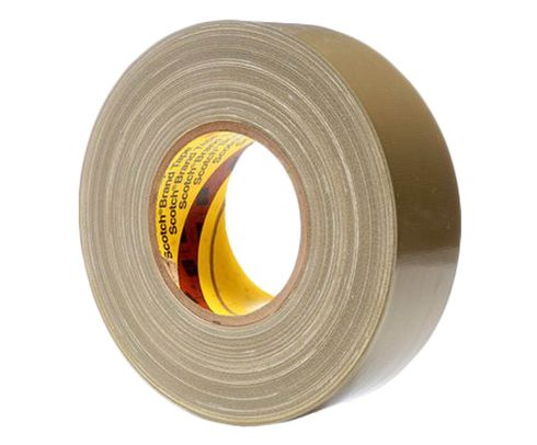3M™ 021200-06970 Scotch® 390 Olive 11.7 Mil Polyethylene Coated Cloth Tape - 48 mm x 54.8 m Roll