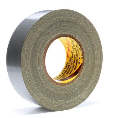 "3M™ 021200-06971 Scotch® 390 Silver 11.7 Mil Polyethylene Coated Cloth Tape – 2"" x 60 Yard Roll"
