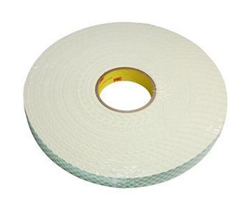 "3M� 021200-03402 Natural 4116 Single-Coated 62 Mil Urethane Foam Tape - 1"" x 36 Yard Roll"