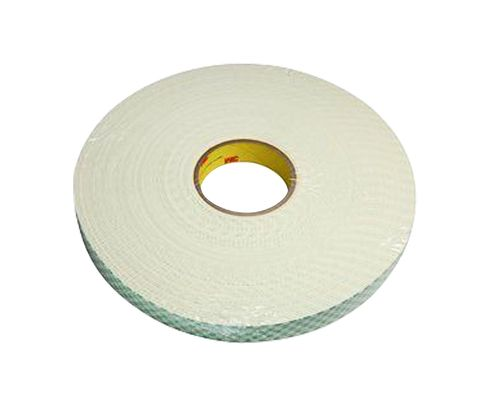 "3M™ 021200-04874 Natural 4116 Single-Coated 62 Mil Urethane Foam Tape - 2"" x 36 Yard Roll"