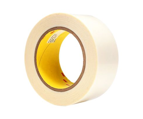 "3M™ 021200-04842 Clear 444 Double 3.9 Mil Coated Tape - 2"" x 36 Yard Roll"