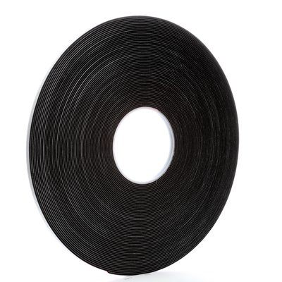 "3M™ 021200-03309 Black 4516 Single-Coated 62 Mil Vinyl Foam Tape - 1/4"" x 36 Yard Roll"