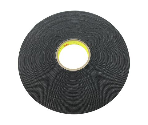 "3M™ 021200-03308 Black 4516 Single-Coated 62 Mil Vinyl Foam Tape - 3/4"" x 36 Yard Roll"