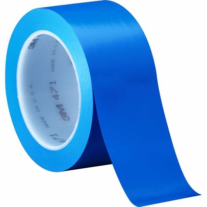 "3M� 021200-04308 Blue 471 Vinyl 5.2 Mil Tape - 2"" x 36 Yard Roll"