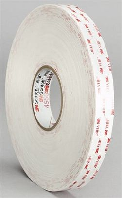 "3M� 021200-18092 VHB� 4950 White 45 Mil Acrylic Foam Tape - 1"" x 36 Yard Roll"