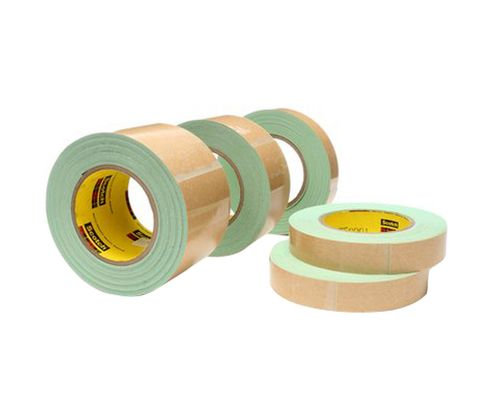"3M™ 021200-60894 Scotch® 500 Green 33 Mil Impact Stripping Tape - 1"" x 10 Yard Roll"