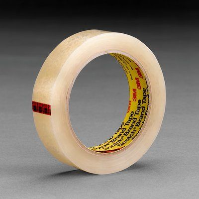 "3M™ 051131-06681 Scotch® 600 Clear 2.3 Mil High Clarity Light-Duty Packaging Tape - 1"" x 72 Yard Roll"