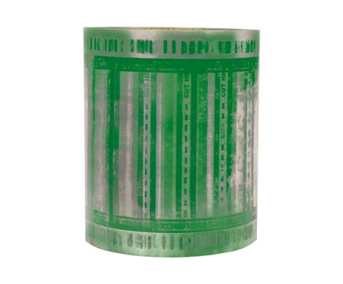 """3M� 076308-86376 Scotch� 824RCT Clear/Green Pouch Tape - 6"""" x 5"""" Roll"""