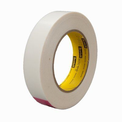"3M� 021200-30257 Scotch� 9325 Transparent 5.0 Mil Squeak Reduction Tape - 1"" x 36 Yard Roll"