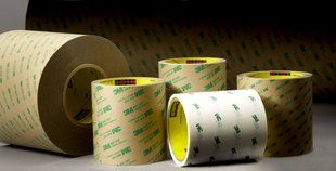 "3M� 70-0001-4598-0 White 9375W Flame 5 Mil Retardant Adhesive Transfer Tape - 2 1/2"" x 60 Yard Roll"