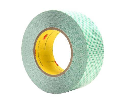 "3M™ 021200-23205 White 9589 Double 9 Mil Coated Film Tape - 1"" x 36 Yard Roll"
