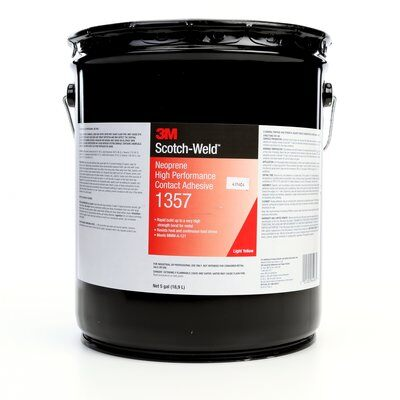 3M™ 021200-64963 Scotch-Weld™ 1357 Light-Yellow Neoprene High Performance Contact Adhesive - 18.9 Liter (5 Gallon) Pail