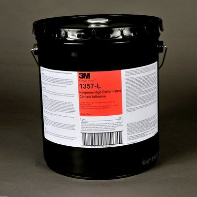 3M™ 021200-25590 Scotch-Weld™ 1357L Gray-Green Neoprene High Performance Contact Adhesive - 18.9 Liter (5 Gallon) Pail