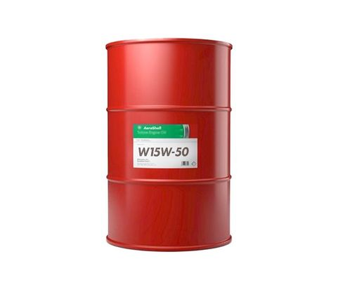 AeroShell� Oil 550041184 15W-50 Multi-grade Aircraft Oil - 55 Gallon (206.9 Kg) Steel Drum