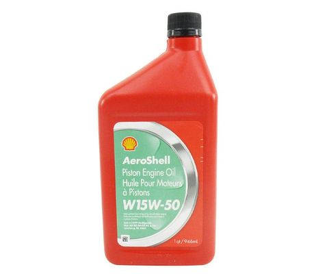 AeroShell� Oil 550041165 15W-50 Multi-grade Aircraft Oil - Quart (946 mL) Bottle