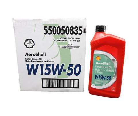 AeroShell� Oil 550050835 15W-50 Multi-grade Aircraft Oil - 6 Quart/Case