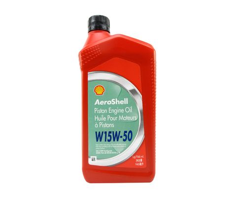 AeroShell� Oil 550050835 15W-50 Multi-grade Aircraft Oil - Quart (946 mL) Bottle