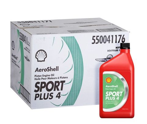 AeroShell Oil Sport PLUS 4 Light Sport Aircraft Oil - 12 Liter/Case