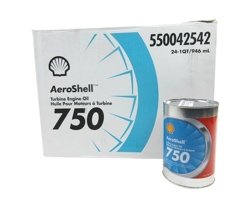 AeroShell Turbine Oil 750 Synthetic Turbine Engine Oil - 24 Liter/Case