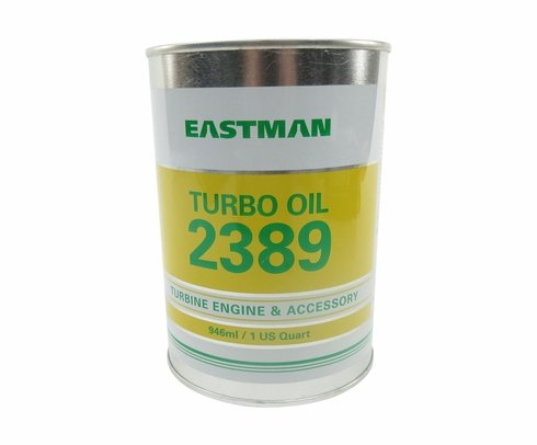Eastman™ Turbo Oil 2389 Clear MIL-PRF-7808 Grade 3 Spec Aircraft Turbine Engine Lubricating Oil - 946 mL (Quart) Can