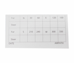 Airpath Instrument C23-807 Compass Deviation Card
