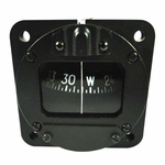 Airpath Instrument C-2400-L4 Black Finish 12-Volt Red Light Panel Mount Magnetic Compass
