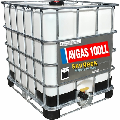 AVGAS 100LL Low-Lead Blue Piston-Engine Aviation Gasoline - 275 Gallon Tote
