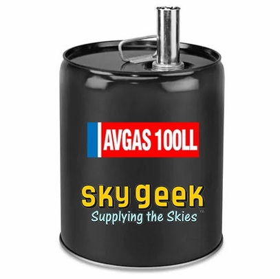 AVGAS 100LL Low-Lead Blue Piston-Engine Aviation Gasoline - 5 Gallon Pail