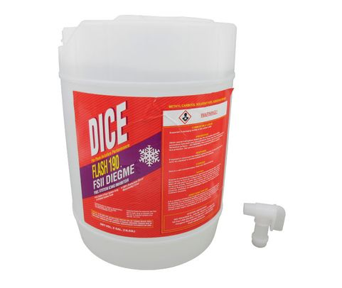 AvLab D-F190-5P DICE Flash 190 Fuel System Ice Inhibitor (FSII) - 5 Gallon Pail