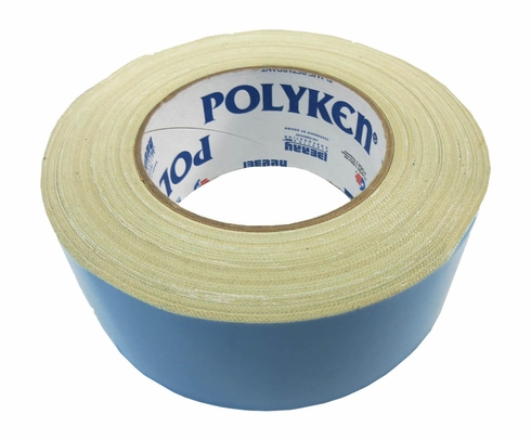 "POLYKEN® 108FR-2NAT Natural BMS 5-133G Type II, Class 1 Spec Double-Coated Flame Retardant Carpet Tape - 2"" x 25 Yard Roll"
