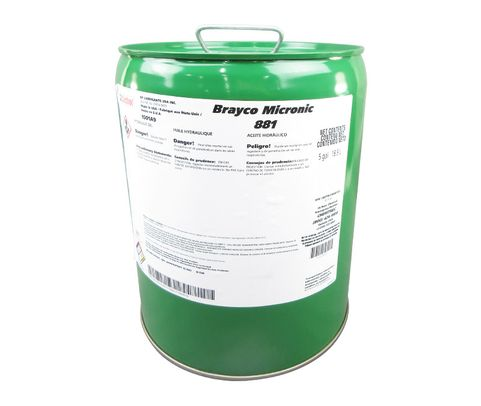 Castrol� Brayco� Micronic 881 Red MIL-PRF-87257C Spec Full Synthetic ISO-7 Hydraulic Fluid - 5 Gallon Steel Pail