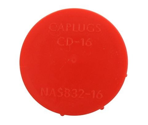 Caplug CD-16 Red 1-5/16-12 Threaded Plastic Dust & Moisture Cap