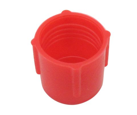 Caplug CD-4 Red 7/16-20 Threaded Plastic Dust & Moisture Cap