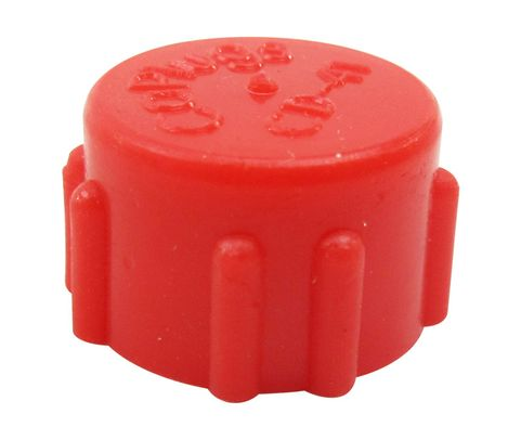 Caplug CD-41 Red 7/16-24 Threaded Plastic Dust & Moisture Cap